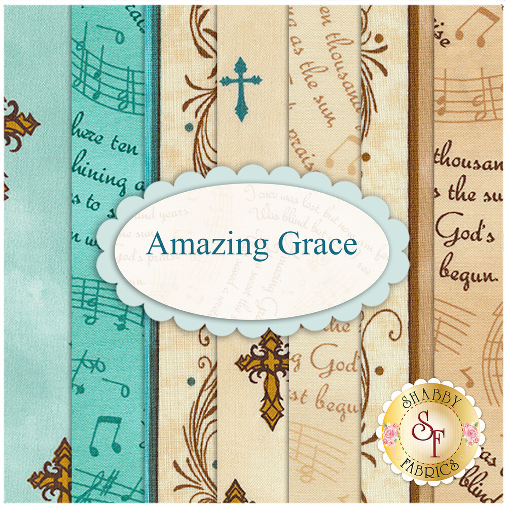 Amazing Grace  7 FQ Set  by Quilting Treasures available at Shabby Fabrics
