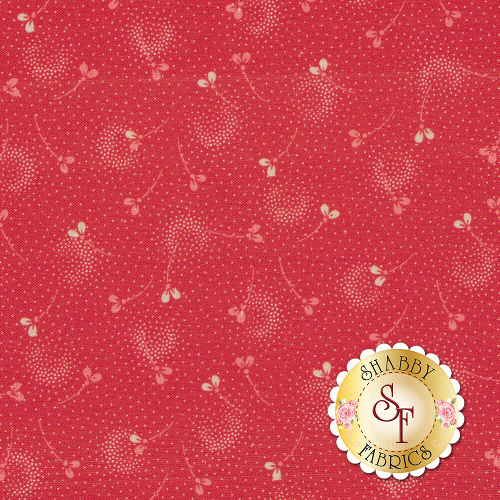Amelie AMEL218-R Red Tossed Buds by P&B Textiles