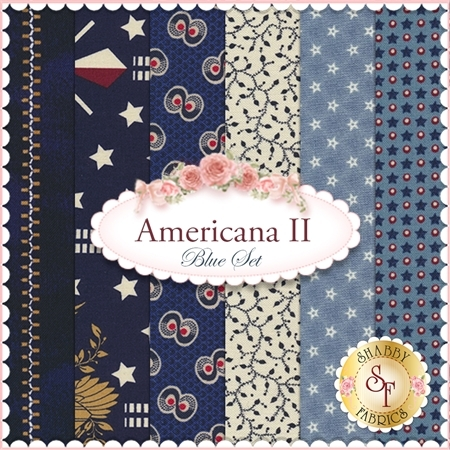 Americana II  6 FQ Set - Blue Set by Penny Rose Fabrics