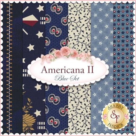 Americana II  6 FQ Set - Blue Set by Penny Rose Fabrics