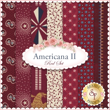 Americana II  7 FQ Set - Red Set by Penny Rose Fabrics