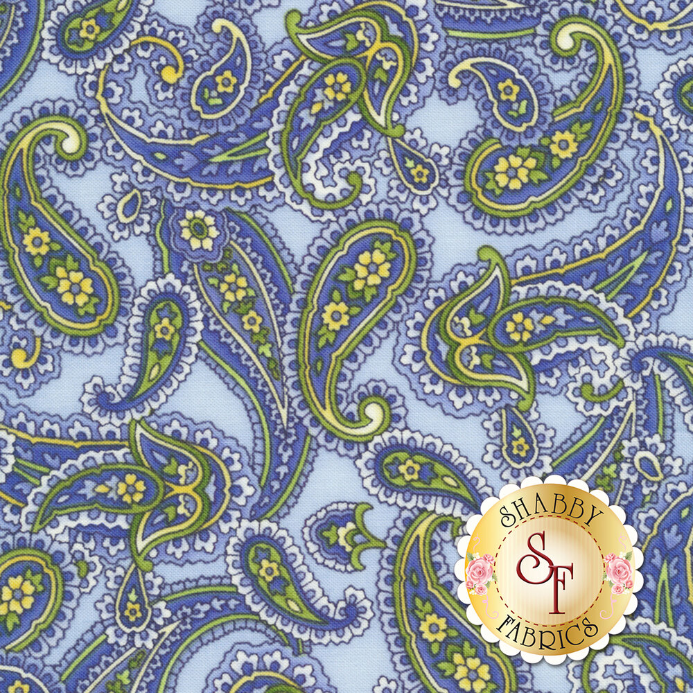Angelica C6363-Sky Paisley for Timeless Treasures Fabrics