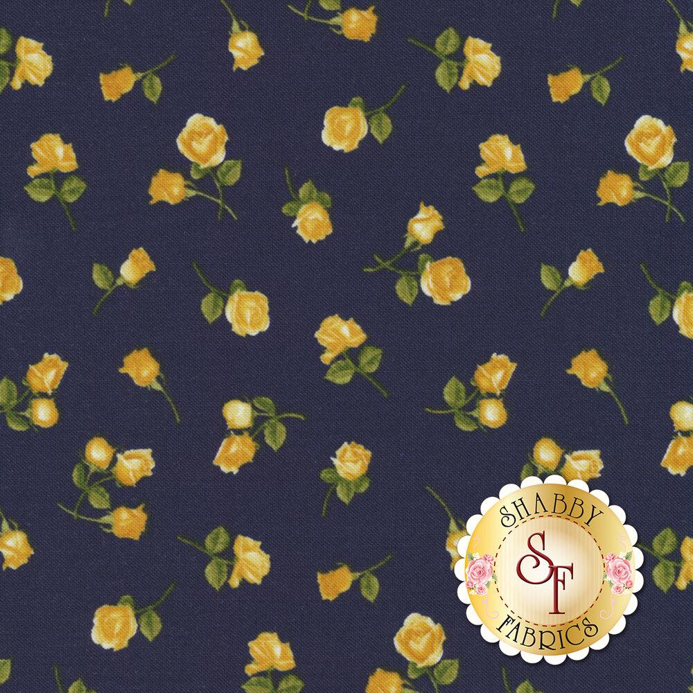 Angelica C6364-Navy Mini Roses for Timeless Treasures Fabrics