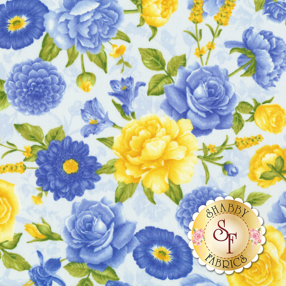 Angelica C6600-Powder Allover Flowers for Timeless Treasures Fabrics