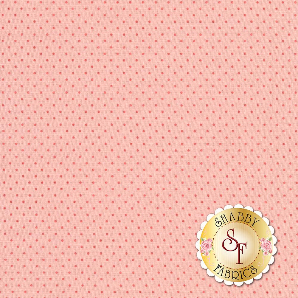 Dark pink dots on a light pink background | Shabby Fabrics