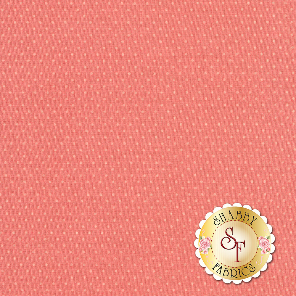 Small light pink dots on a pink background | Shabby Fabrics