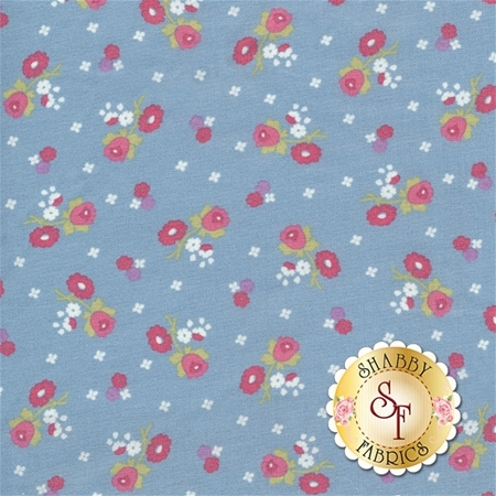 Anne of Green Gables C5865-BLUE Blossoms Blue by Penny Rose Fabrics