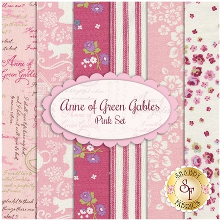 Anne of Green Gables  6 FQ Set - Pink Set by Penny Rose Fabrics