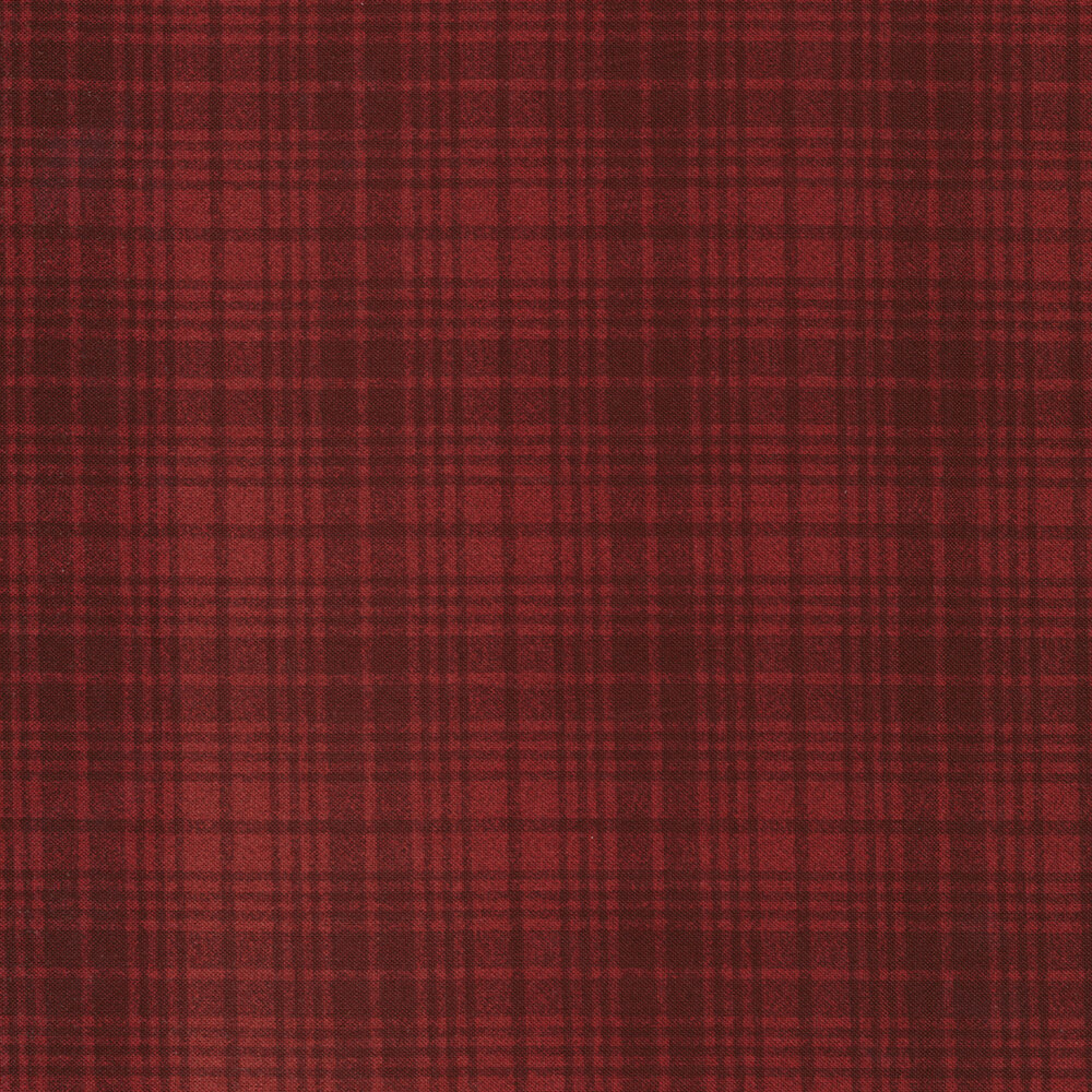 Tonal Red plaid print | Shabby Fabrics