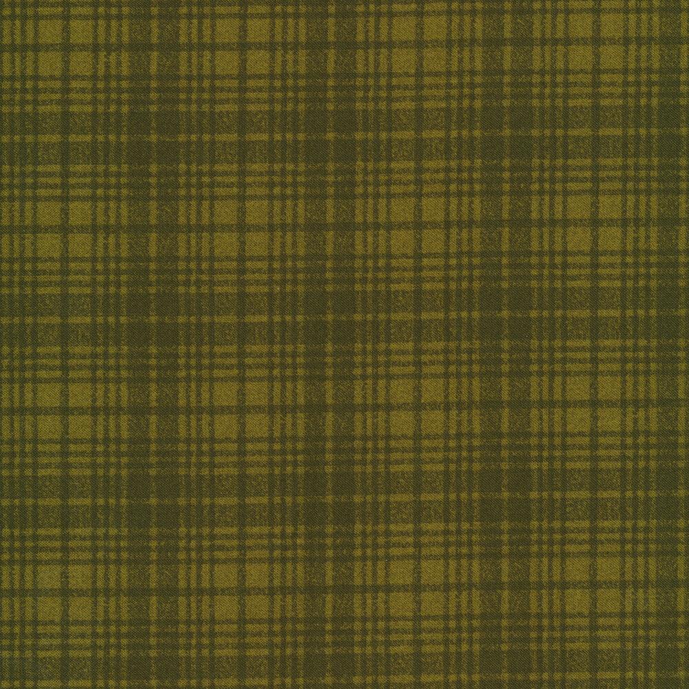Tonal green plaid print   Shabby Fabrics