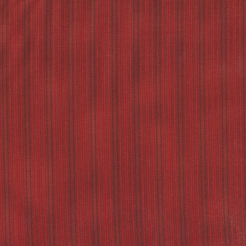Tonal Red stripe print   Shabby Fabrics