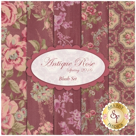 Antique Rose Spring 2016  5 FQ Set - Blush Set by Lecien Fabrics