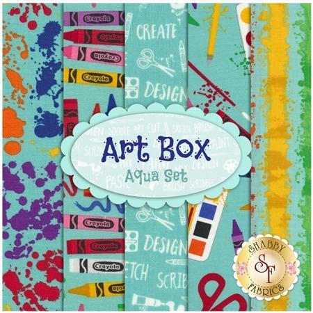 Art Box  5 FQ Set - Aqua Set by Crayola for Riley Blake Designs