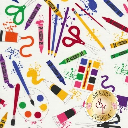 Art Box C6620-WHITE by Crayola for Riley Blake Designs