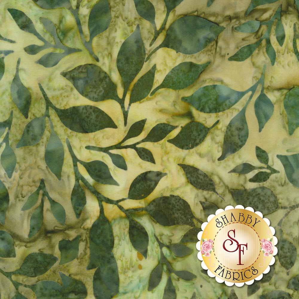 Artisan Batiks: Summer Flowers 18792-43 LEAF by Robert Kaufman Fabrics now available