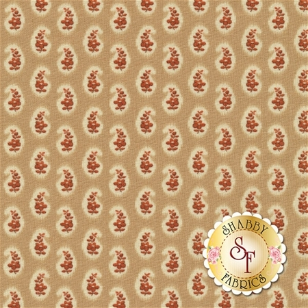 Ashford 24551-AD Tan/Dk Rose by Quilting Treasures