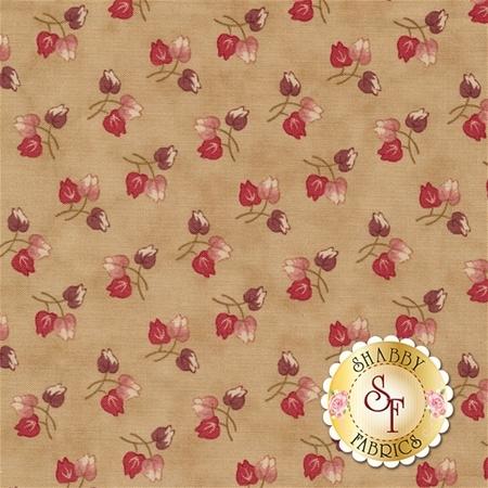 At Home 2793-22 Vanilla Red by Blackbird Designs for Moda Fabrics