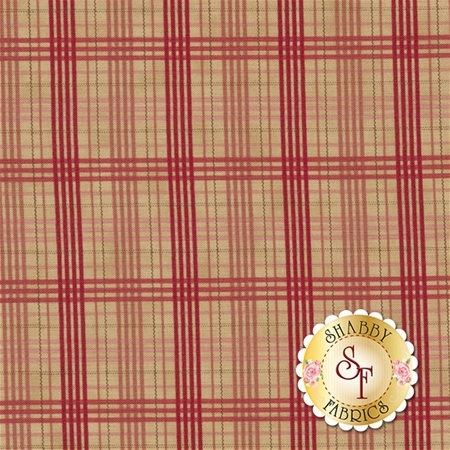At Home 2799-12 Vanilla Red by Blackbird Designs for Moda Fabric