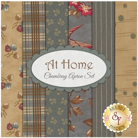 At Home  6 FQ Set - Chambray Apron Set by Blackbird Designs for Moda Fabrics