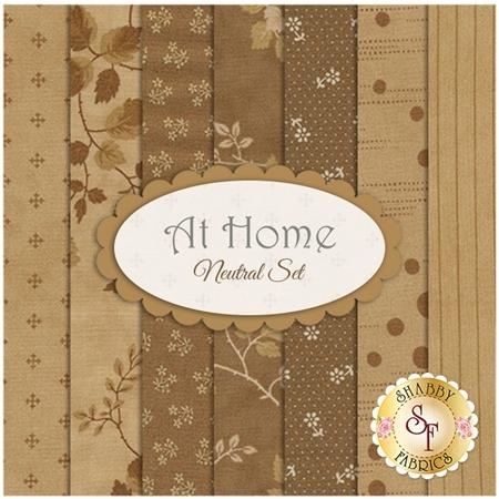 At Home  7 FQ Set - Neutral Set by Blackbird Designs for Moda Fabrics