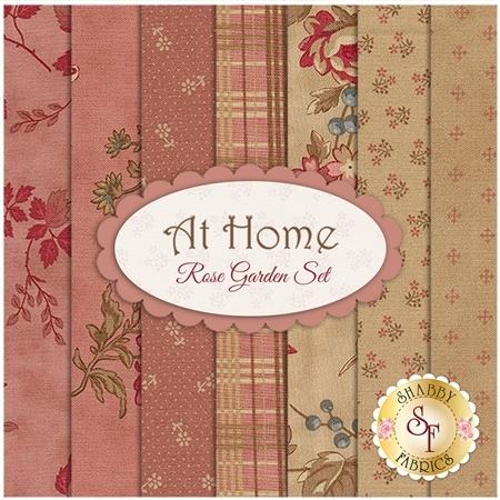 At Home  7 FQ Set - Rose Garden Set by Blackbird Designs for Moda Fabrics