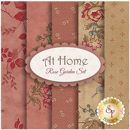 At Home  5 FQ Set - Rose Garden Set by Blackbird Designs for Moda Fabrics