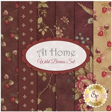 At Home  6 FQ Set - Wild Berries Set by Blackbird Designs for Moda Fabrics