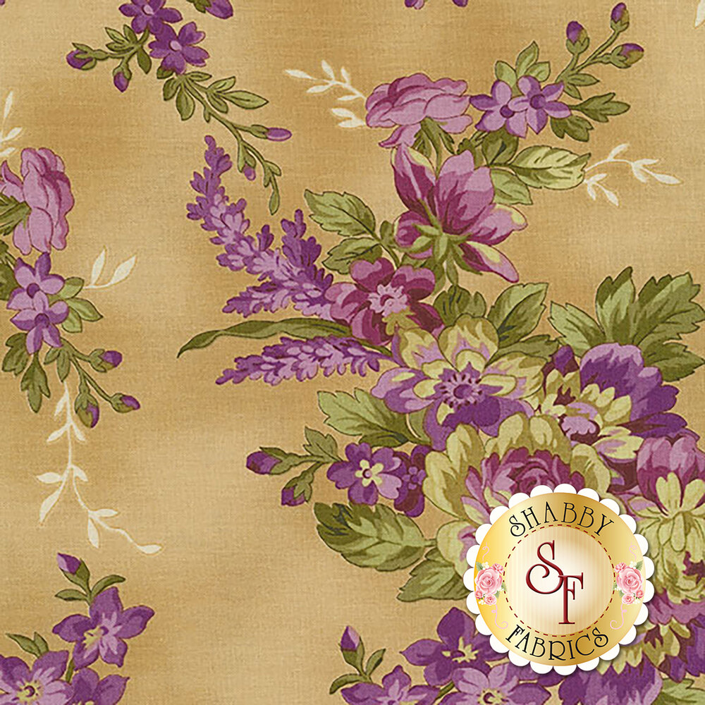 Aubergine 9151-T Ivory Elegant Floral for Maywood Studio