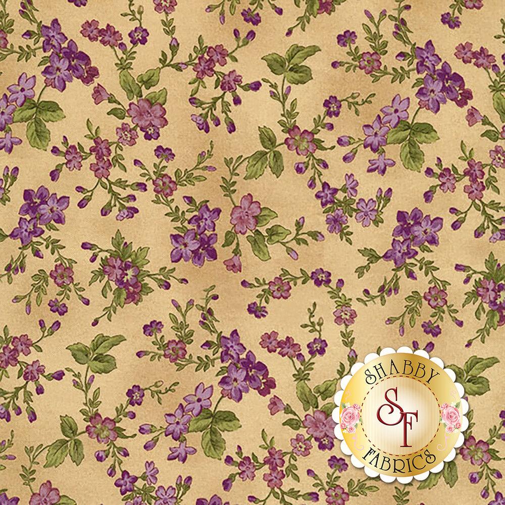 Aubergine 9153-T Antique Trailing Flowers for Maywood Studio
