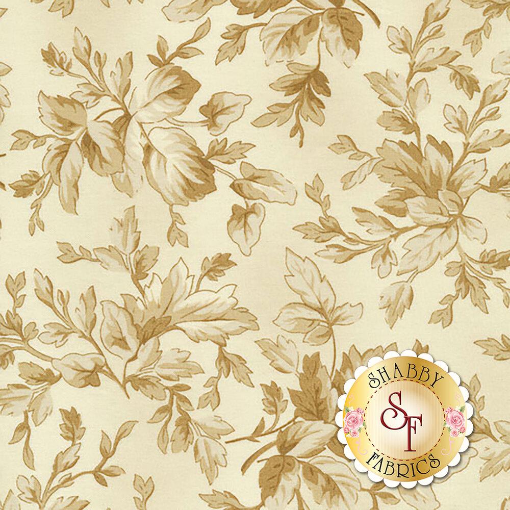 Aubergine 9154-E Ivory Tonal Leaves for Maywood Studio