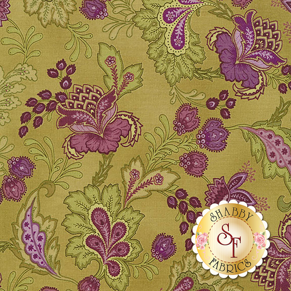 Aubergine 9155-G Olive Elegant Paisley for Maywood Studio