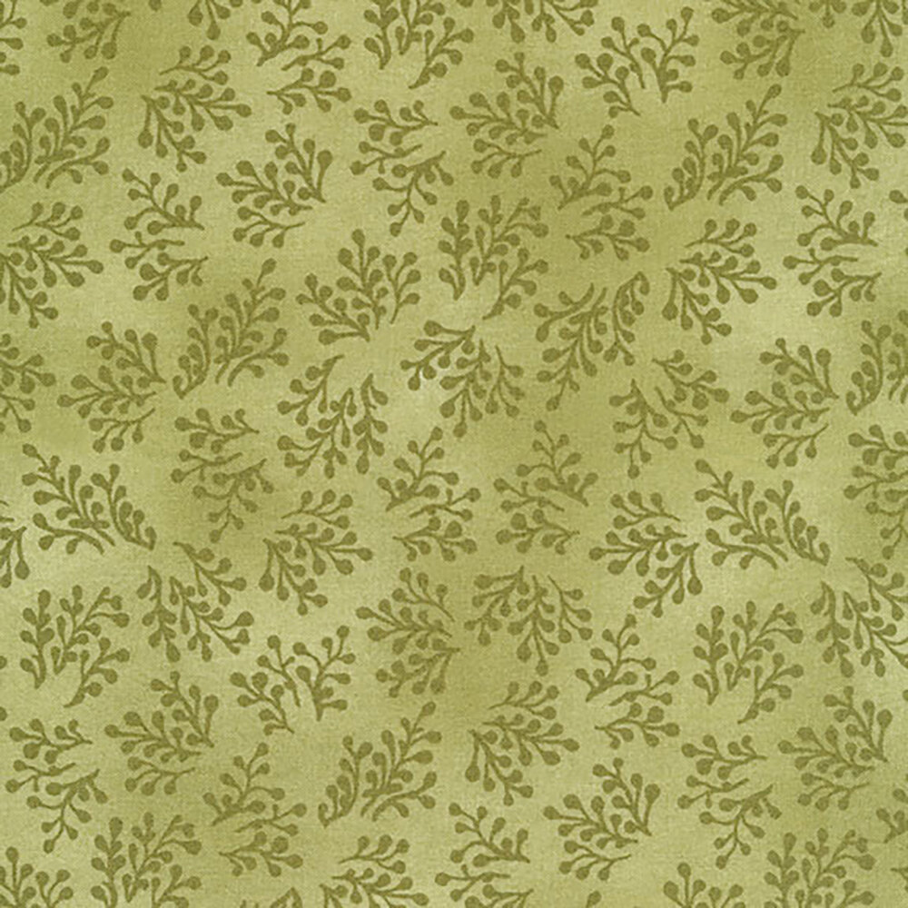 Aubergine 9157-G Soft Green Berry Sprigs for Maywood Studio