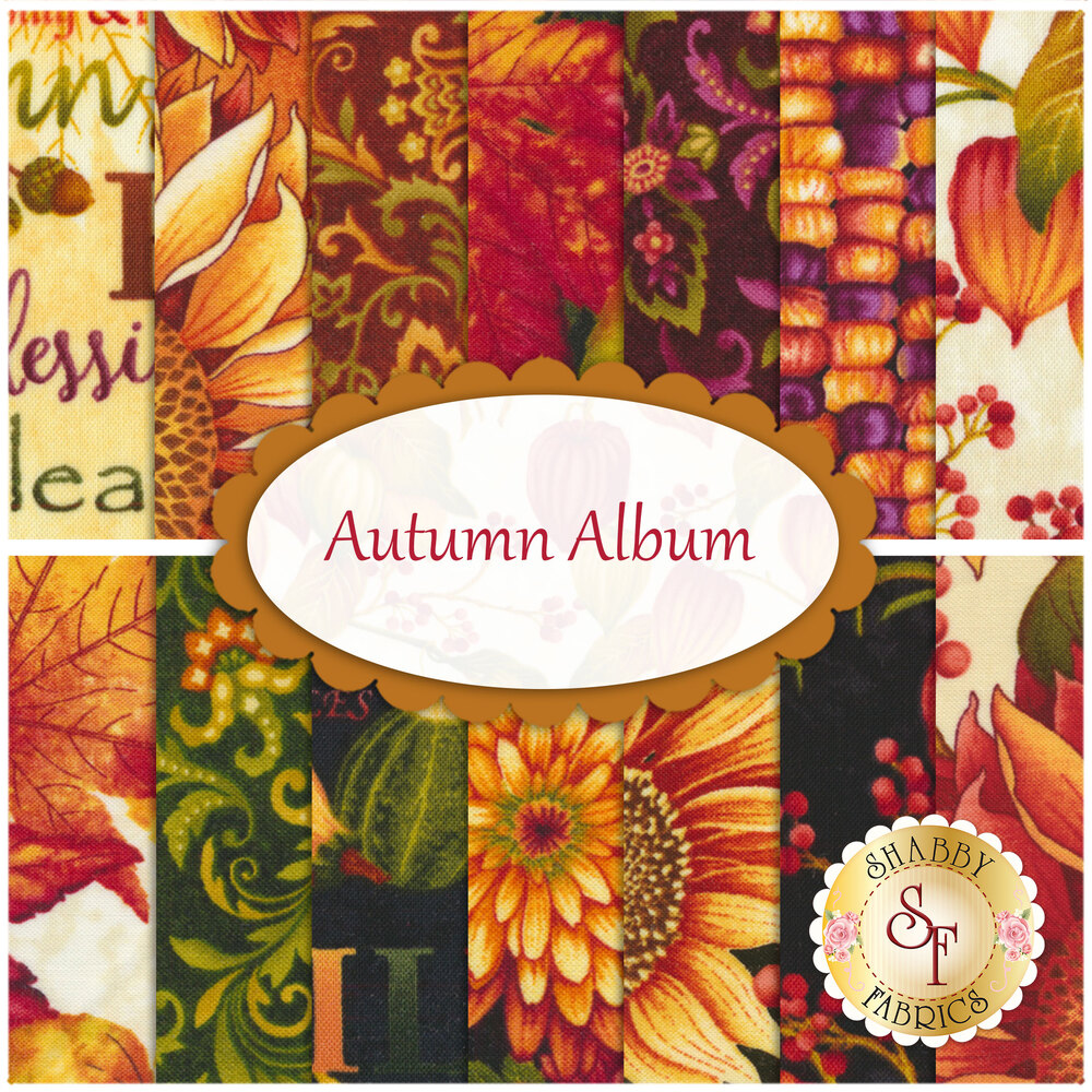 Autumn Album  14 FQ Set by Henry Glass Fabrics