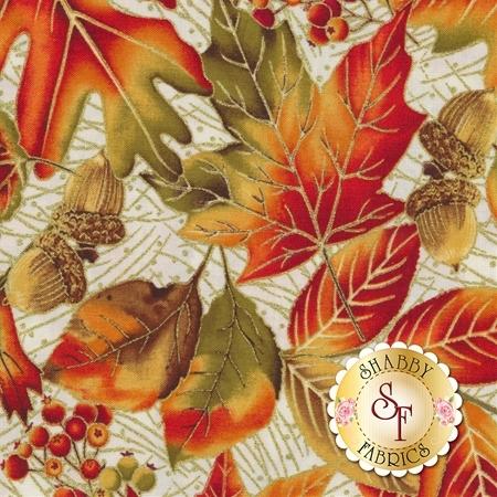 Autumn Leaves 5432M-07 by Benartex Fabrics
