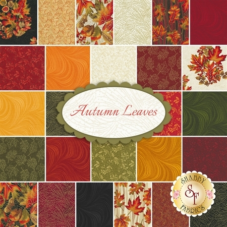Autumn Leaves  26 FQ Set by Benartex Fabrics