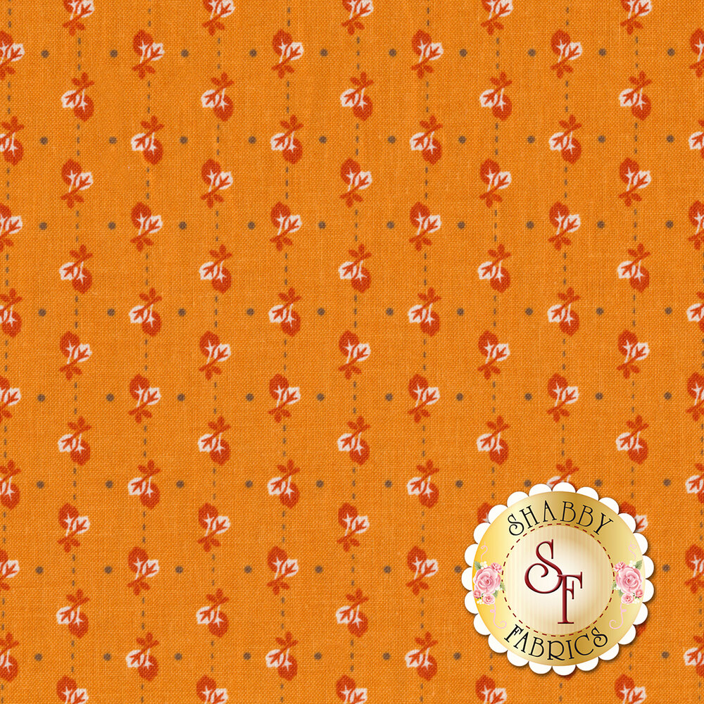 Autumn Love C7363-ORANGE Leaves Orange by Lori Holt for Riley Blake Designs