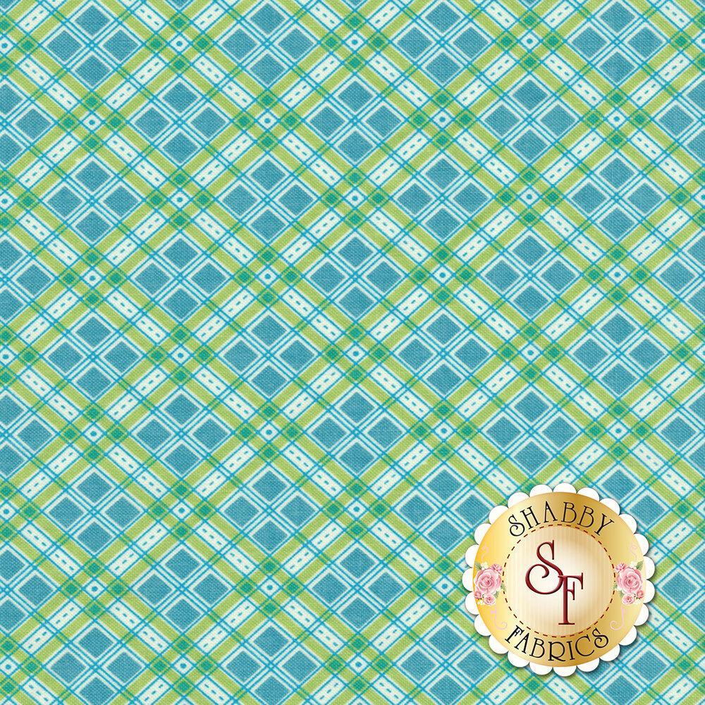 Autumn Love C7364-BLUE Plaid Blue by Lori Holt for Riley Blake Designs