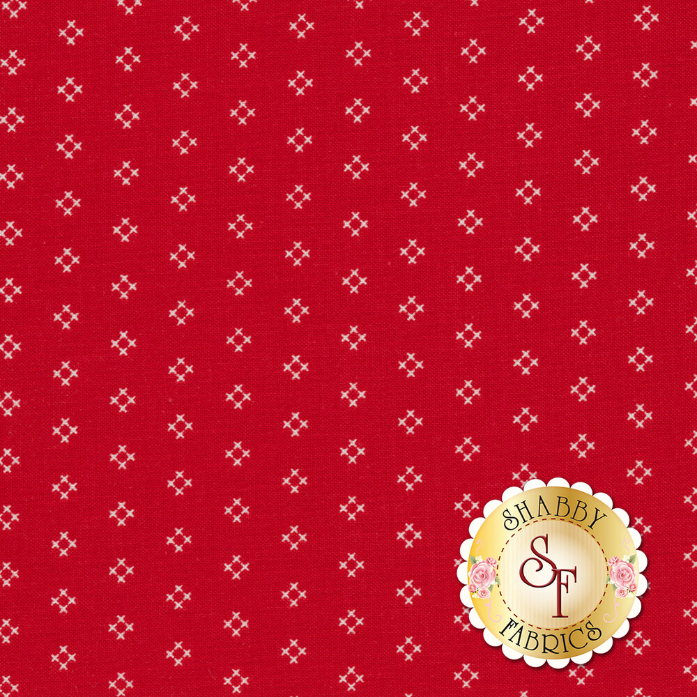 Autumn Love C7365-RED Cross Stitch Red by Lori Holt for Riley Blake Designs