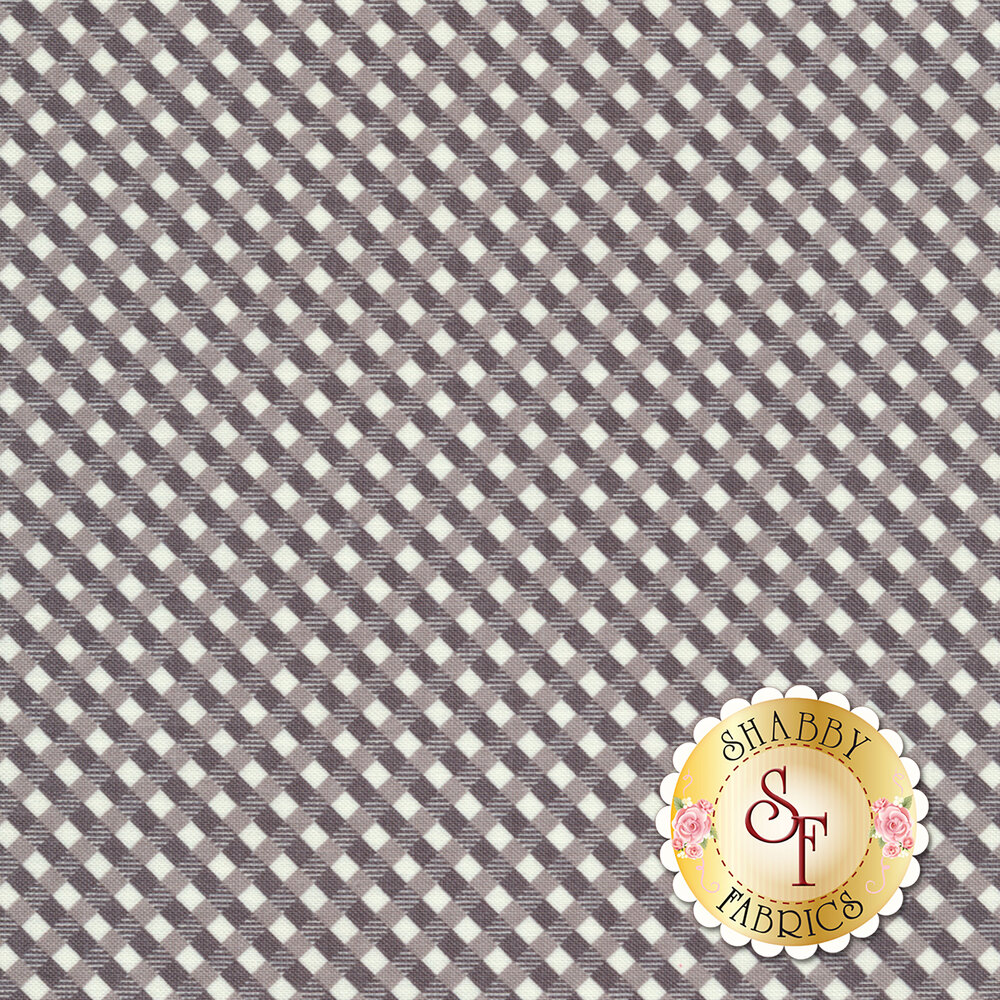 Autumn Love C7366-GRAY Gingham Gray by Lori Holt for Riley Blake Designs REM