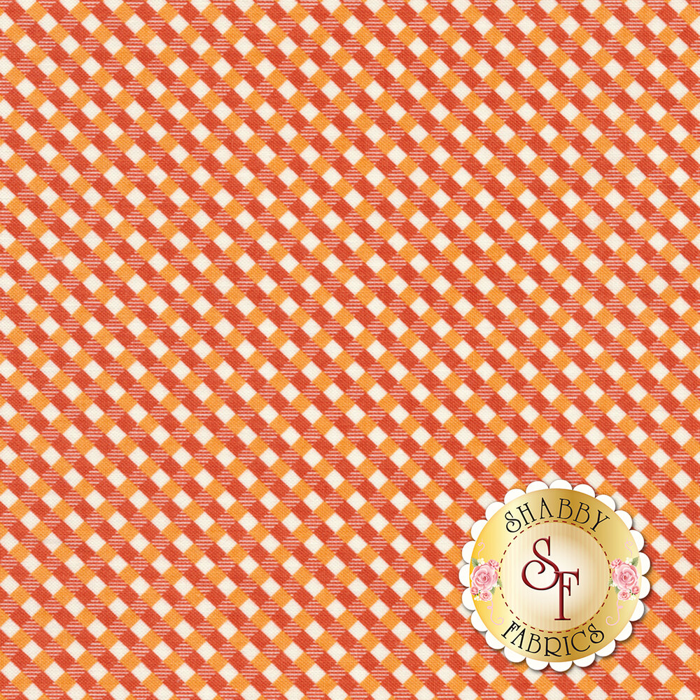 Autumn Love C7366-ORANGE Gingham Orange by Lori Holt for Riley Blake Designs