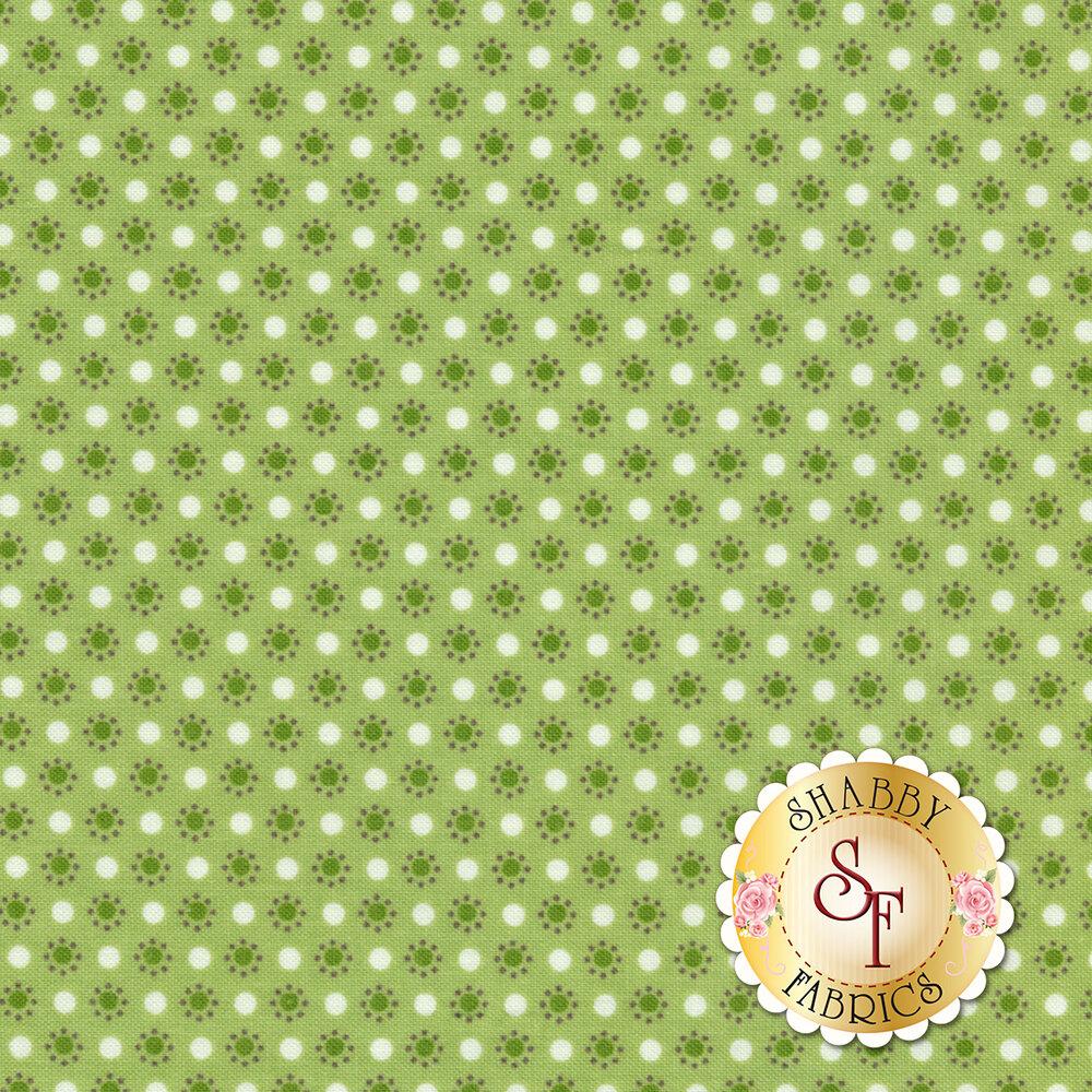 Autumn Love C7367-GREEN Polka Dots Green by Lori Holt for Riley Blake Designs