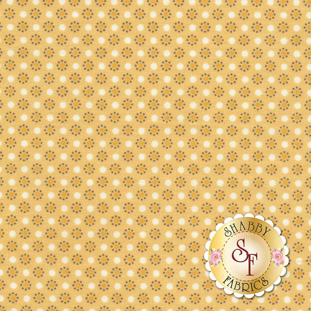 Autumn Love C7367-YELLOW Polka Dots Yellow by Lori Holt for Riley Blake Designs REM