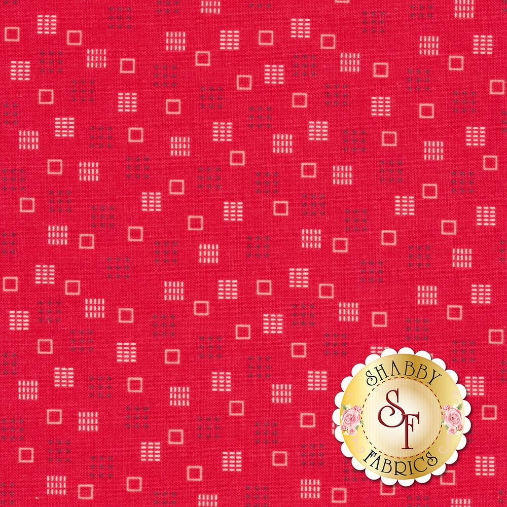 Autumn Love C7368-RED Squares Red by Lori Holt for Riley Blake Designs