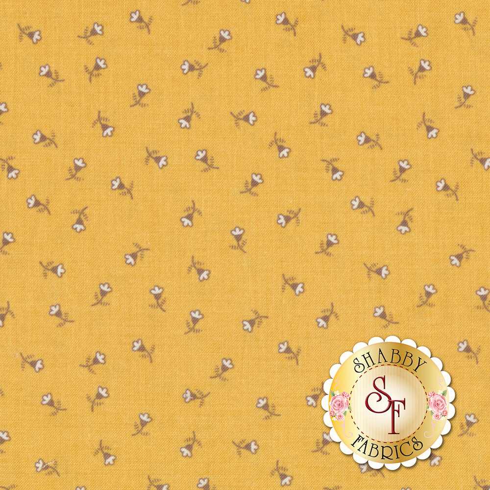 Autumn Love C7369-YELLOW Blossoms Yellow by Lori Holt for Riley Blake Designs