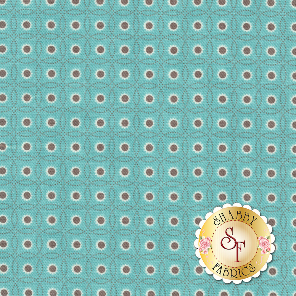 Autumn Love C7370-BLUE Sunflowers Blue by Lori Holt for Riley Blake Designs