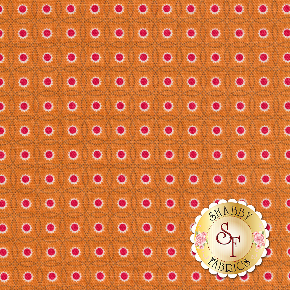 Autumn Love C7370-ORANGE Sunflowers Orange by Lori Holt for Riley Blake Designs