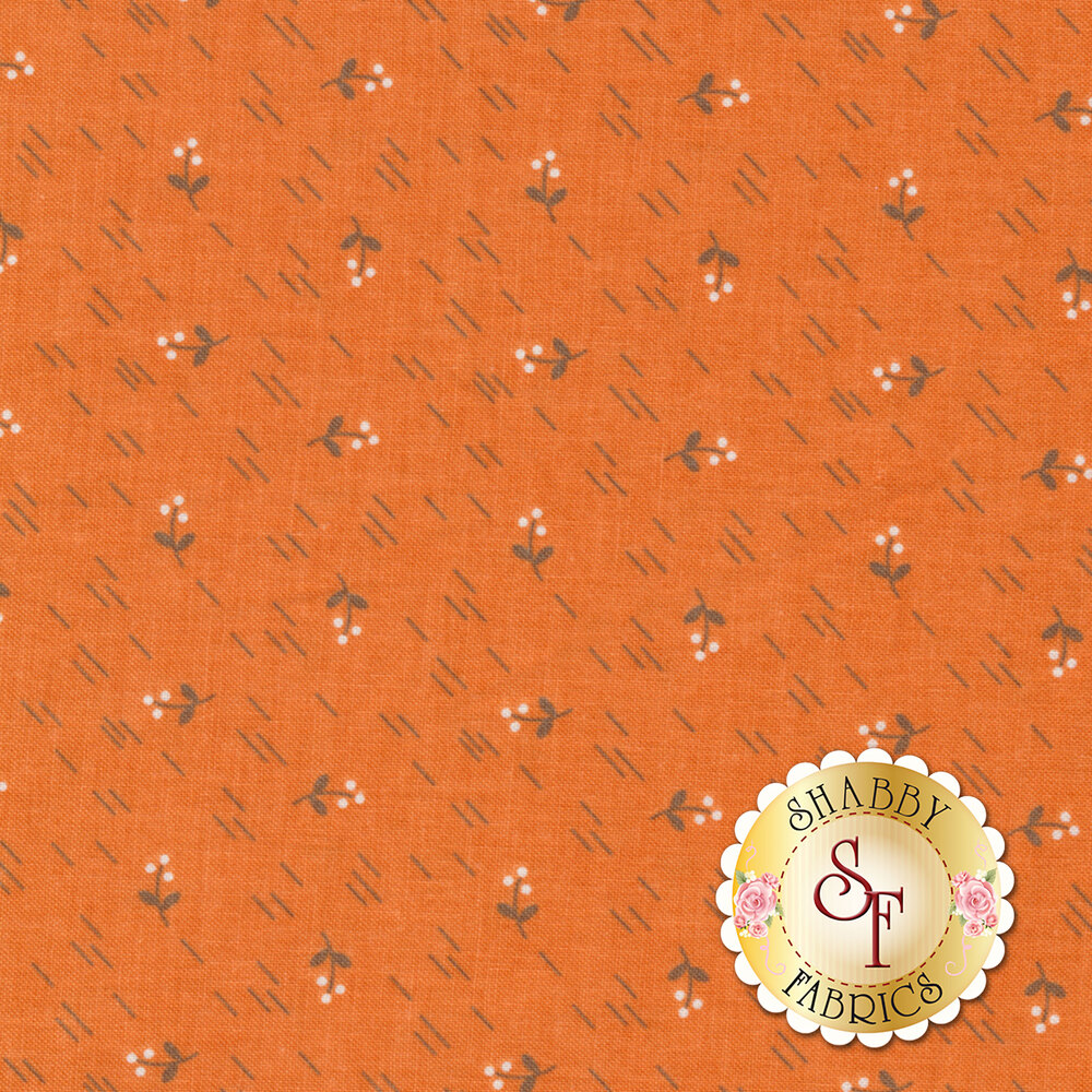 Autumn Love C7371-ORANGE Berries Orange by Lori Holt for Riley Blake Designs