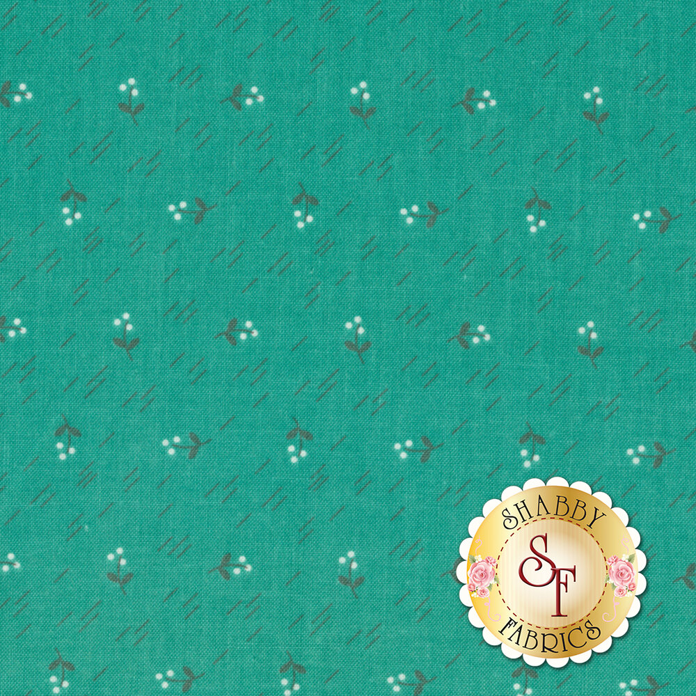 Autumn Love C7371-TEAL Berries Teal by Lori Holt for Riley Blake Designs
