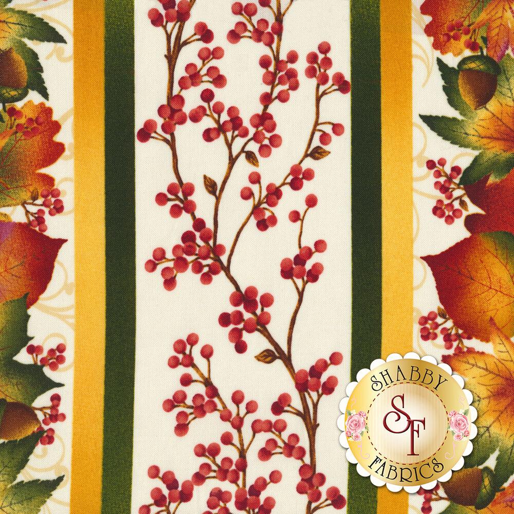 Autumn Time 2320-33 Cream by Henry Glass Fabrics available at Shabby Fabrics