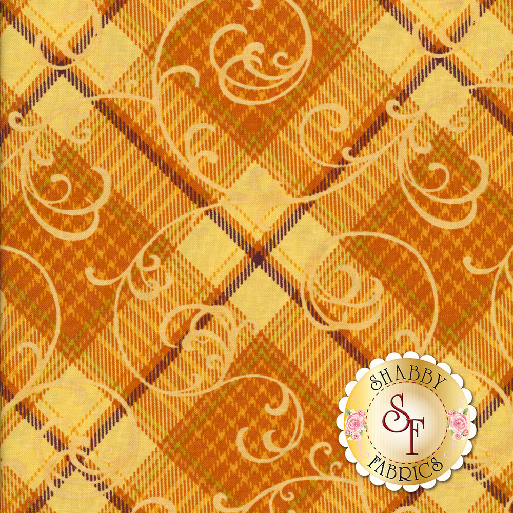 Autumn Time 2326-33 Butter by Henry Glass Fabrics available at Shabby Fabrics